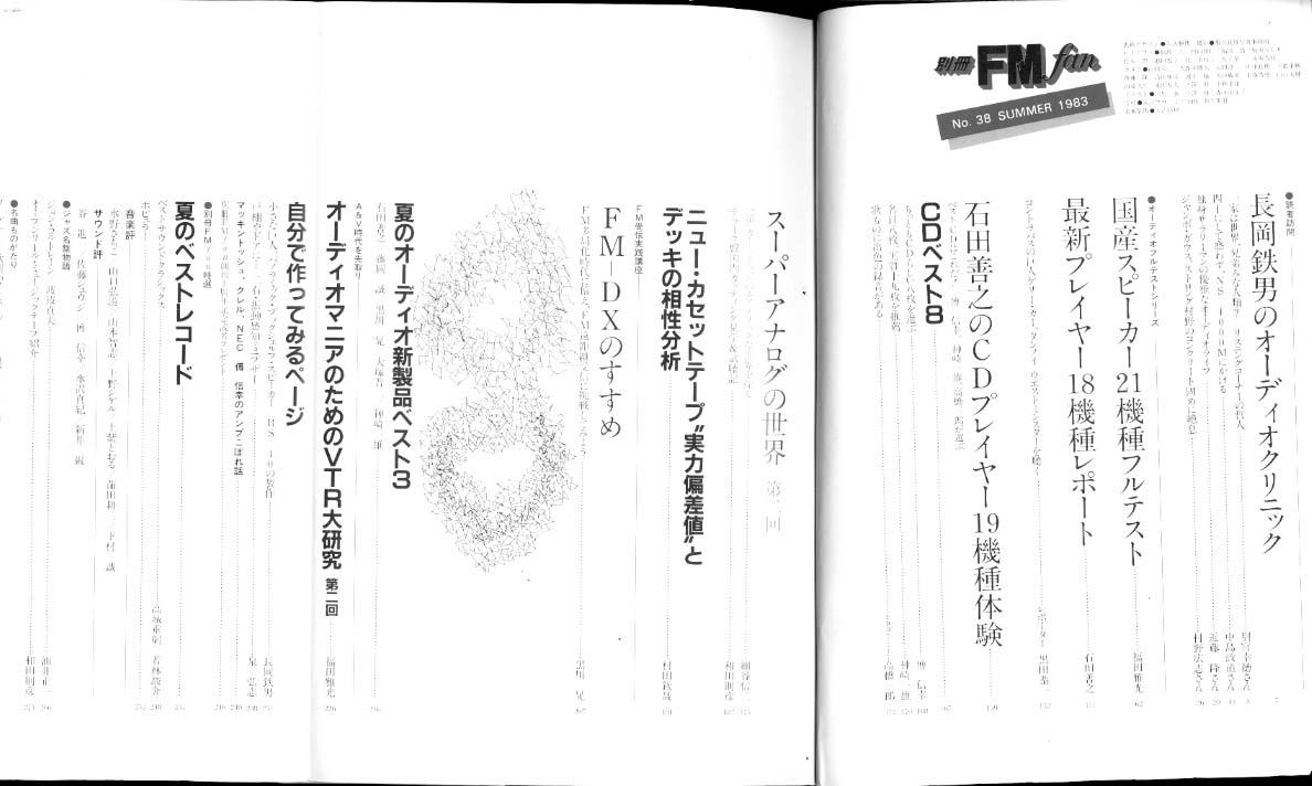 別冊FM fan 1983 SUMMER 38号 共同通信社 画像