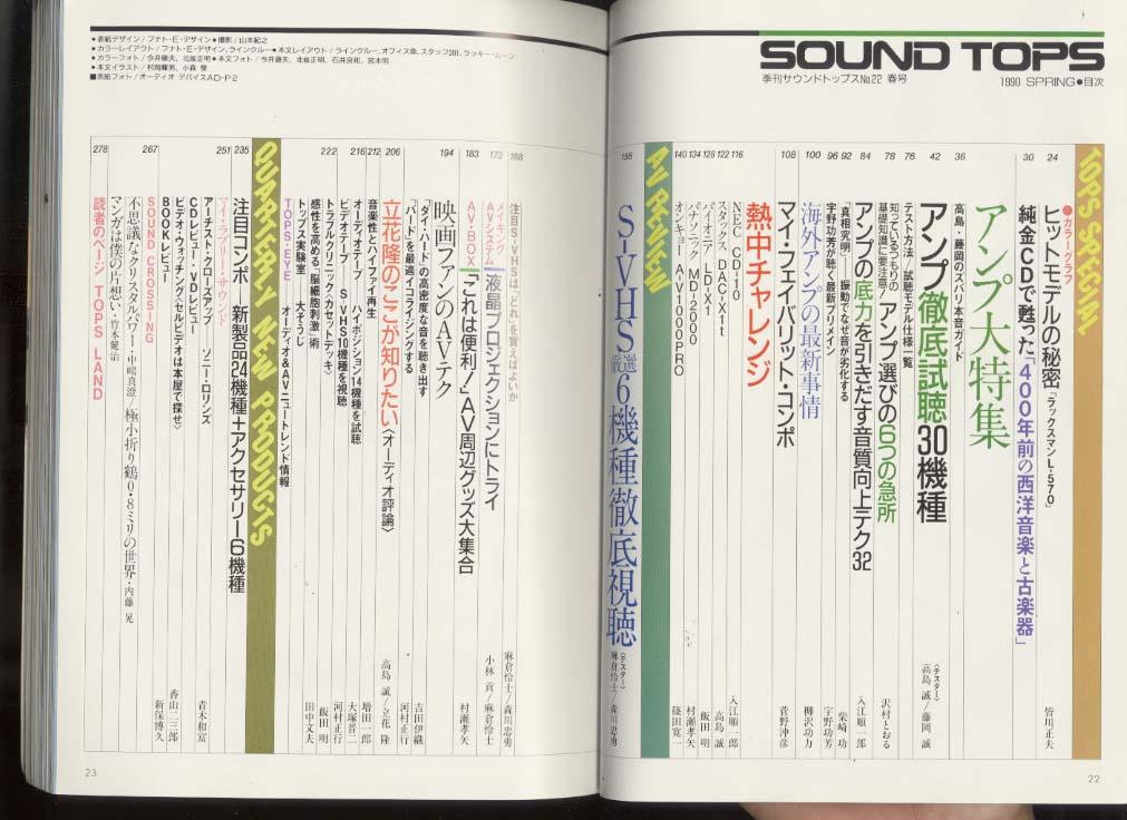 サウンド・トップス 1990 SPRING 22号  画像