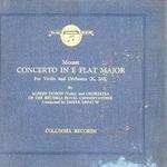 MOZART/CONCERTO IN E FLAT MAJOR