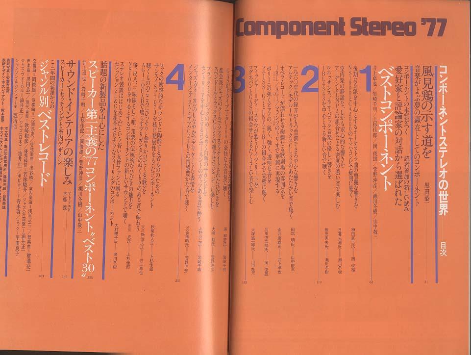 COMPONENT STEREO '77 ステレオサウンド 画像