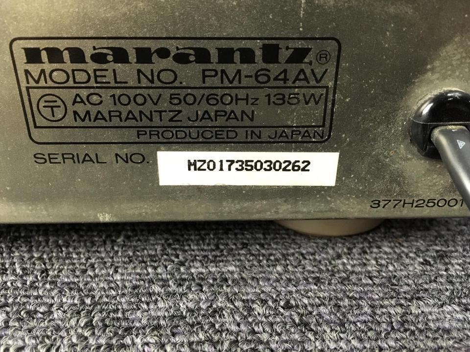 PM-64AV marantz 画像
