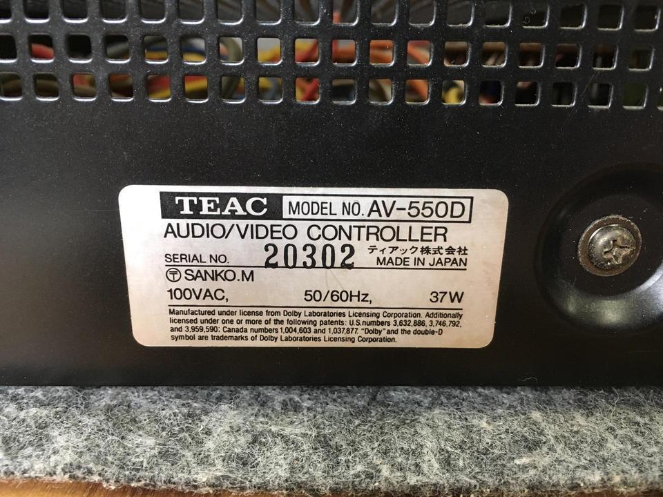 AV-550D TEAC 画像