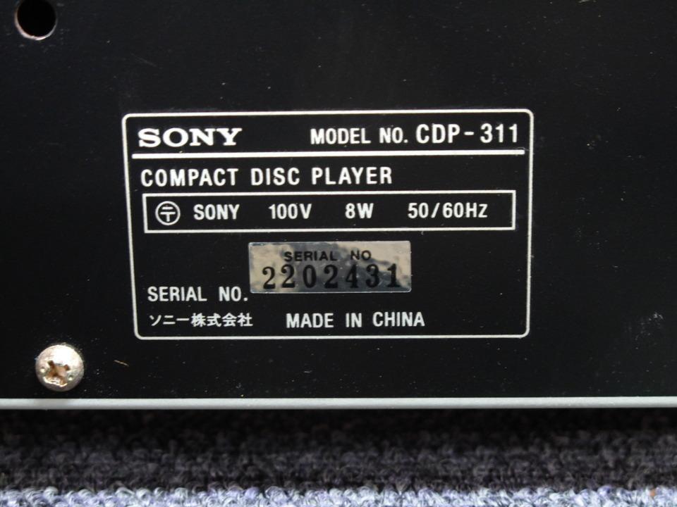 CDP-311 SONY 画像
