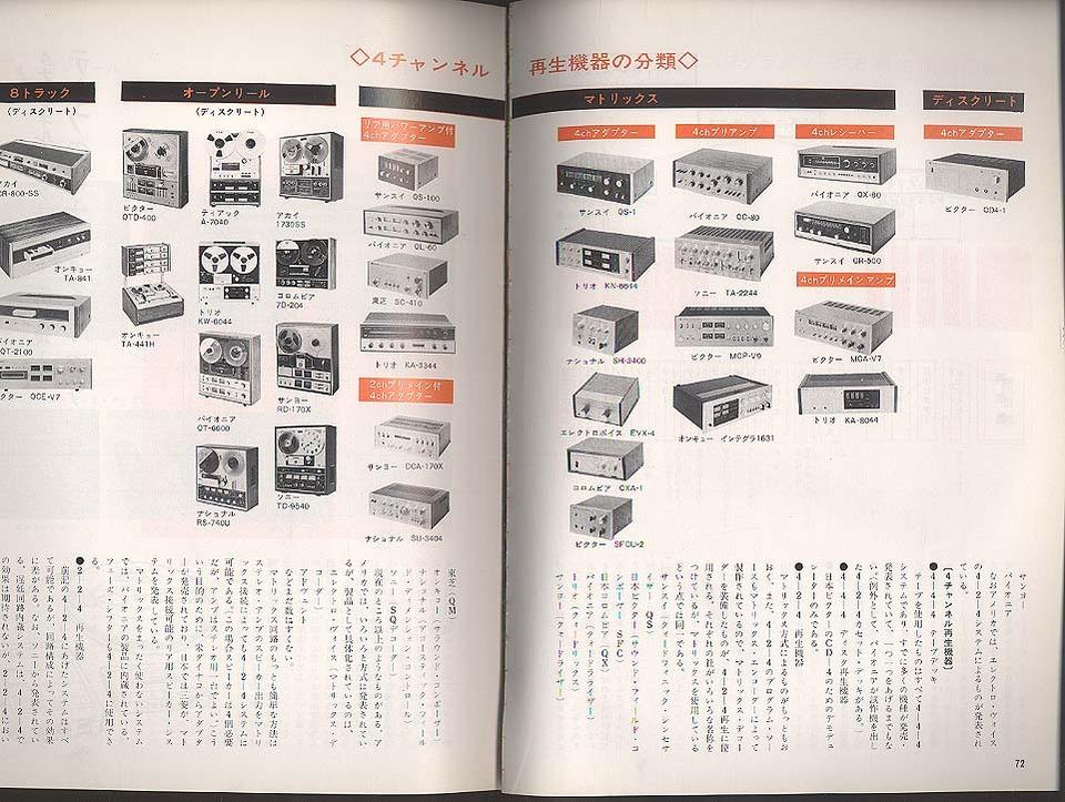 4チャンネルステレオのすべて/季刊ステレオサウンド'71 ステレオサウンド 画像