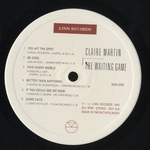 THE WAITING GAME/CLAIRE MARTIN CLAIRE MARTIN(vo)  LP���㥺�ܡ����� image[c]