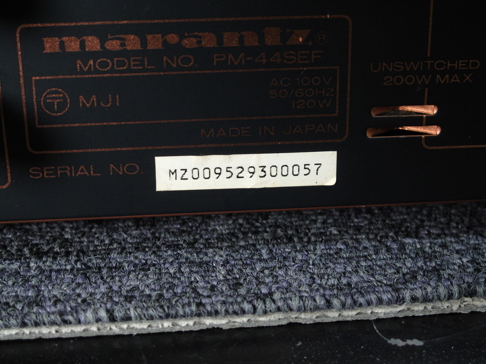 PM-44SE marantz 画像