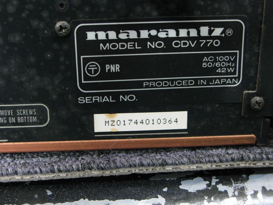 CDV770 marantz 画像