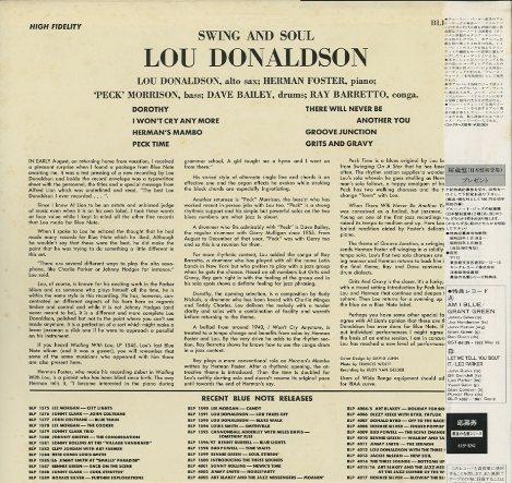 Donaldson Swing Swing And Soul/lou Donaldson