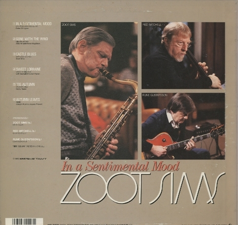 IN A SENTIMENTAL MOOD/ZOOT SIMS  画像