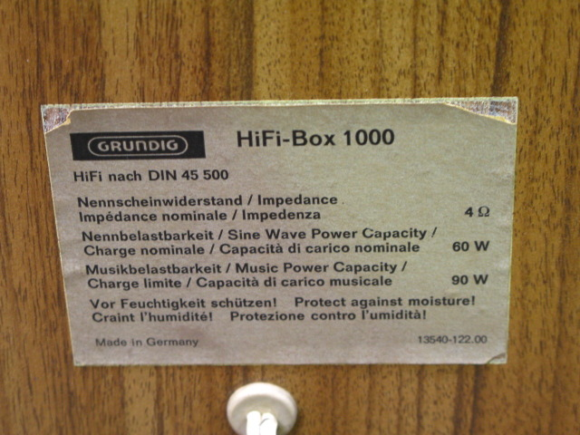 HIFI-BOX 1000 GRUNDIG image[i]