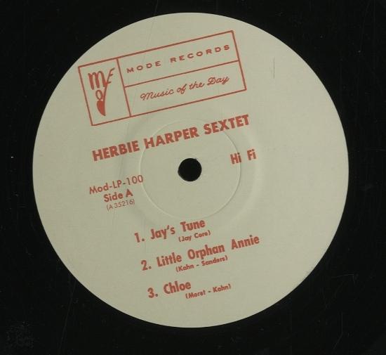 HERBIE HARPER SEXTET HERBIE HA...