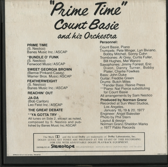 PRIME TIME/COUNT BASIE  画像