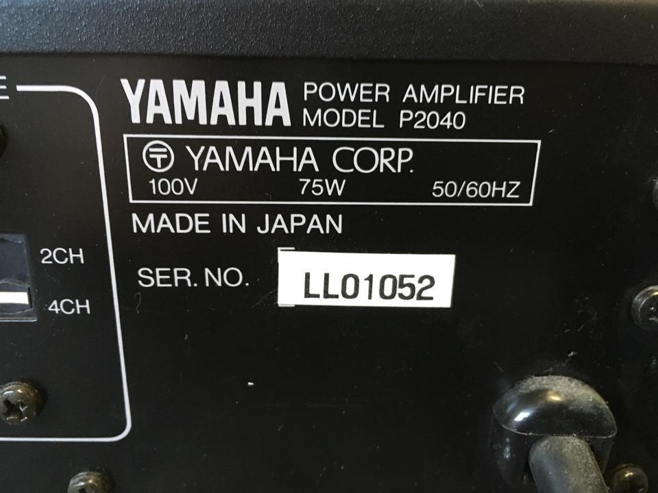 P2040 YAMAHA 画像