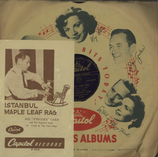 「ISTANBUL」「MAPLE LEAF RAG」CARR HOPS,JOE 'FINGERS' CARR AND HIS RAGTIME BAND  画像