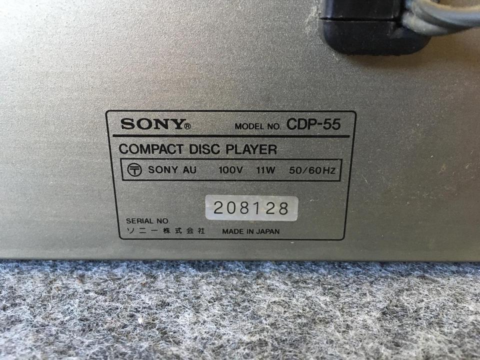 CDP-55 SONY 画像