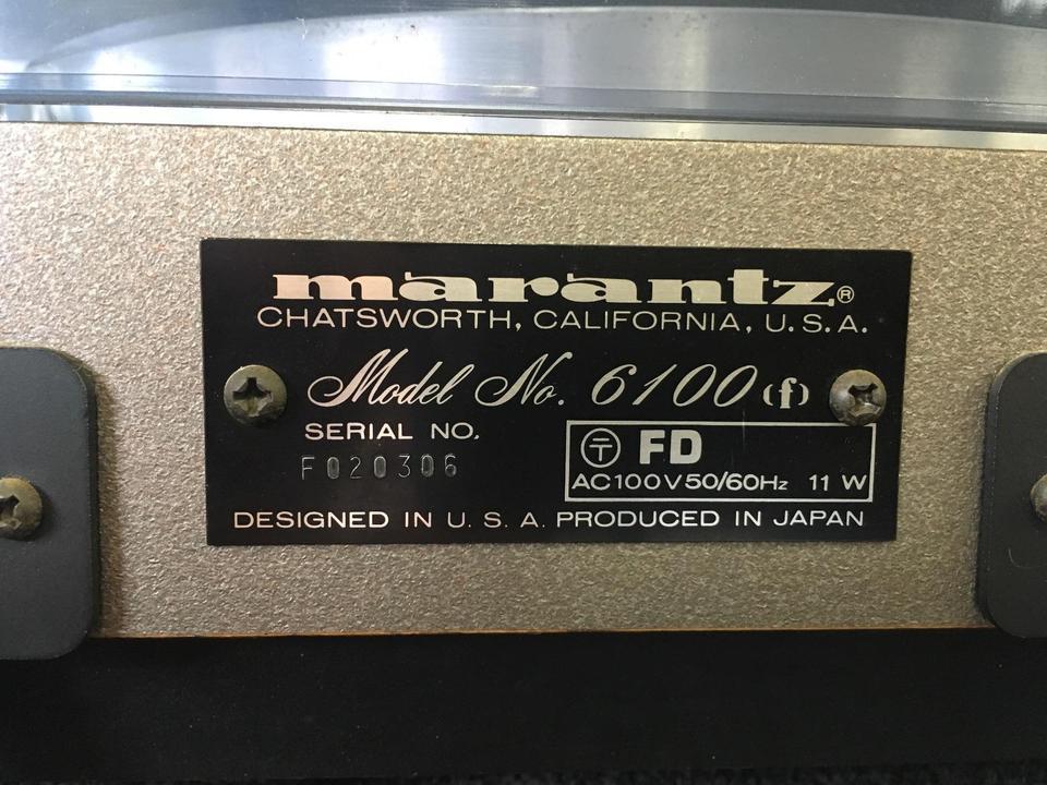 model 6100 marantz 画像