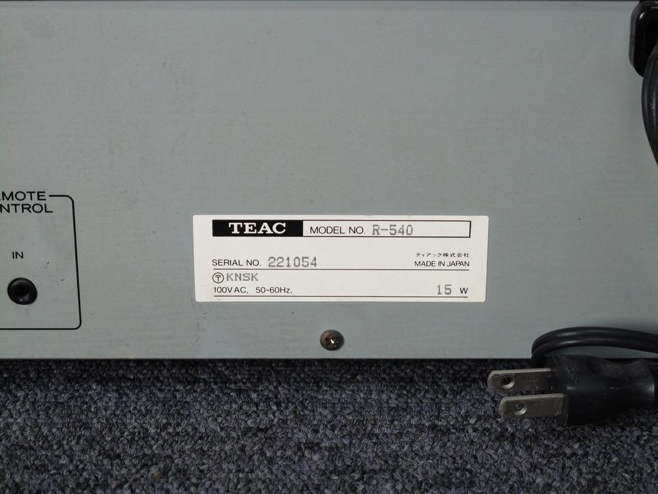 R-540 TEAC 画像