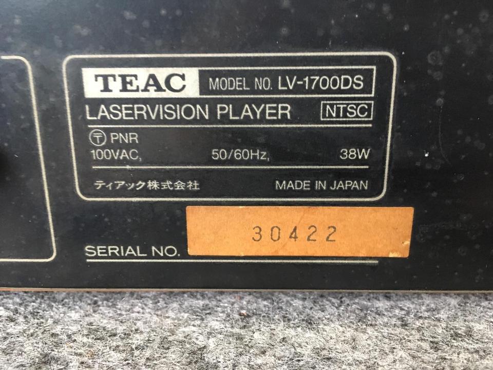 LV-1700DS TEAC 画像