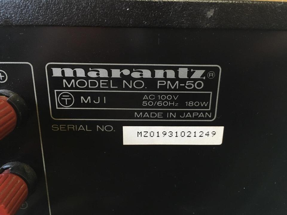 PM-50 marantz 画像