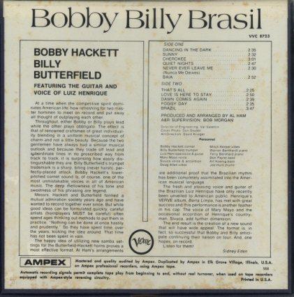 BOBBY BILLY BRASIL/BOBBY HACKETT  画像