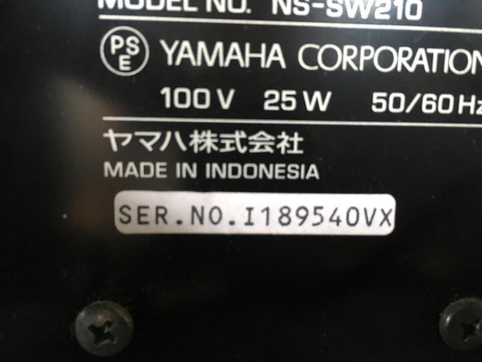 NS-SW210 YAMAHA 画像