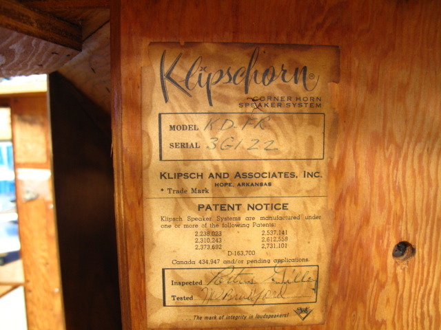 Klipschorn Date | Audiokarma Home Audio Stereo Discussion Forums
