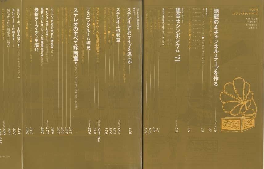 ステレオのすべて'71/レコード藝術臨時増刊  画像