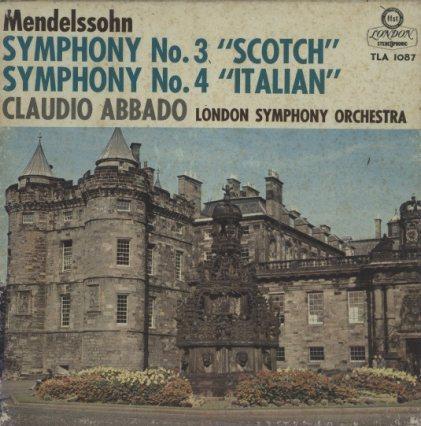 メンデルスゾーン:交響曲第3番「スコットランド」、交響曲第4番「イタリア」  画像