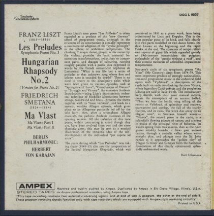 リスト:前奏曲、ハンガリー狂詩曲第2番/スメタナ:「わが祖国」  画像