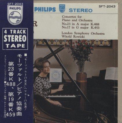 モーツァルト:ピアノ協奏曲第19番、23番  画像
