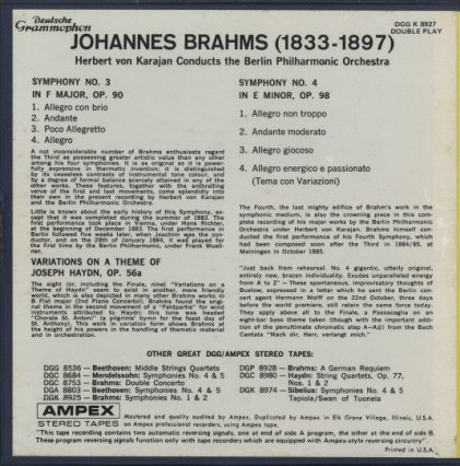 ブラームス:交響曲第3番、第4番  画像