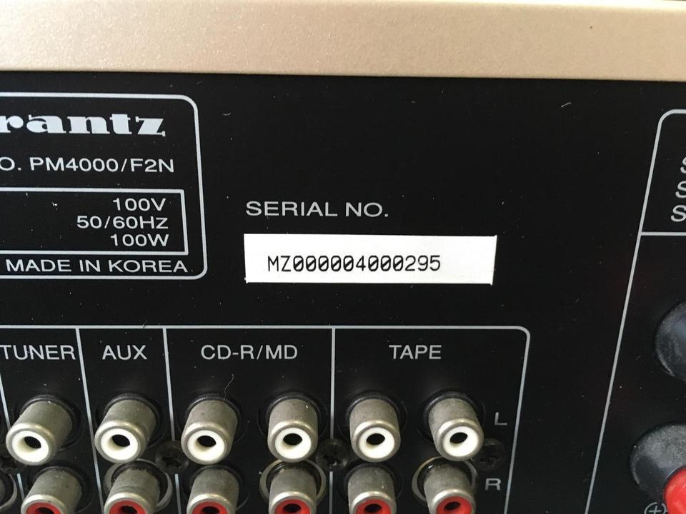 PM4000 marantz 画像