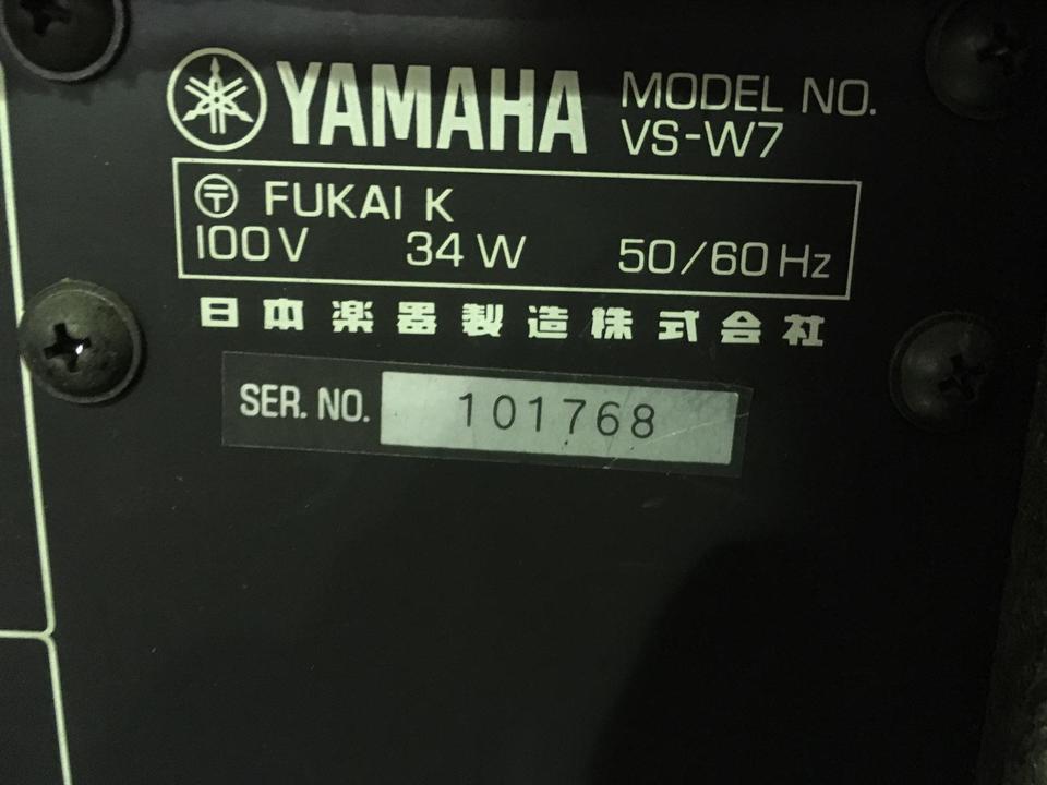 VS-W7 YAMAHA 画像