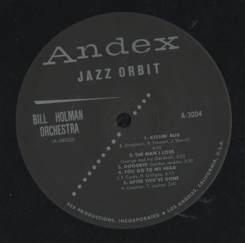 BILL HOLMAN IN A JAZZ ORBIT BILL HOLMAN 画像
