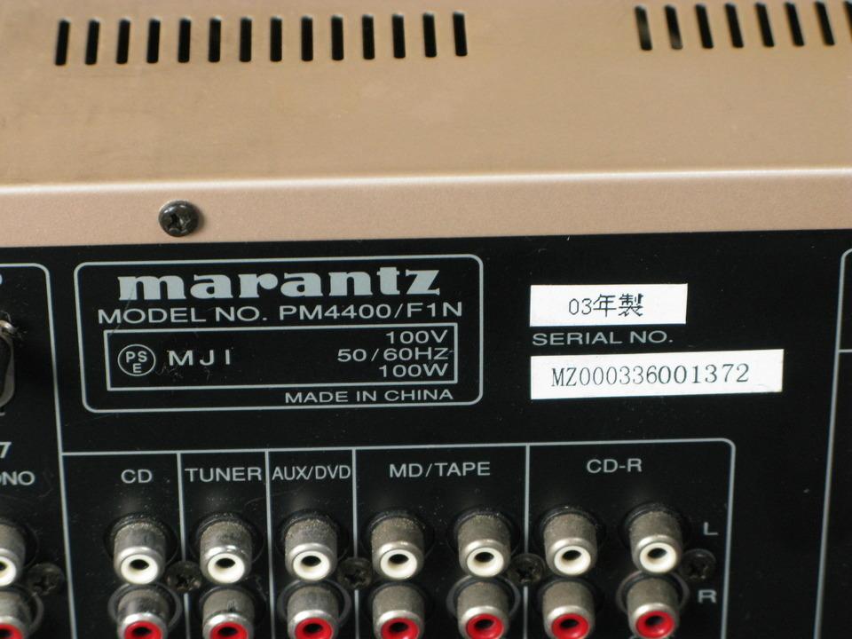 PM4400 marantz 画像