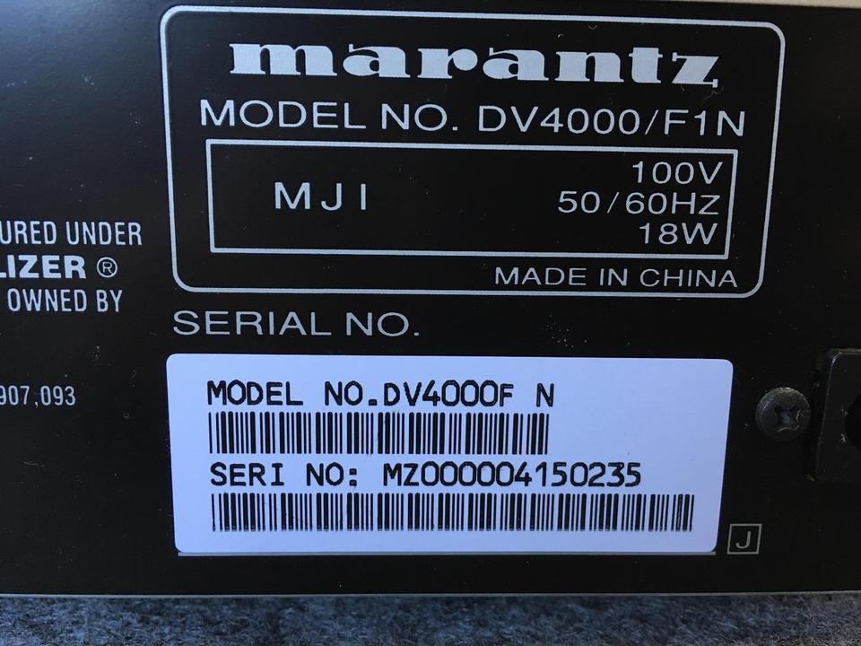 DV4000 marantz 画像