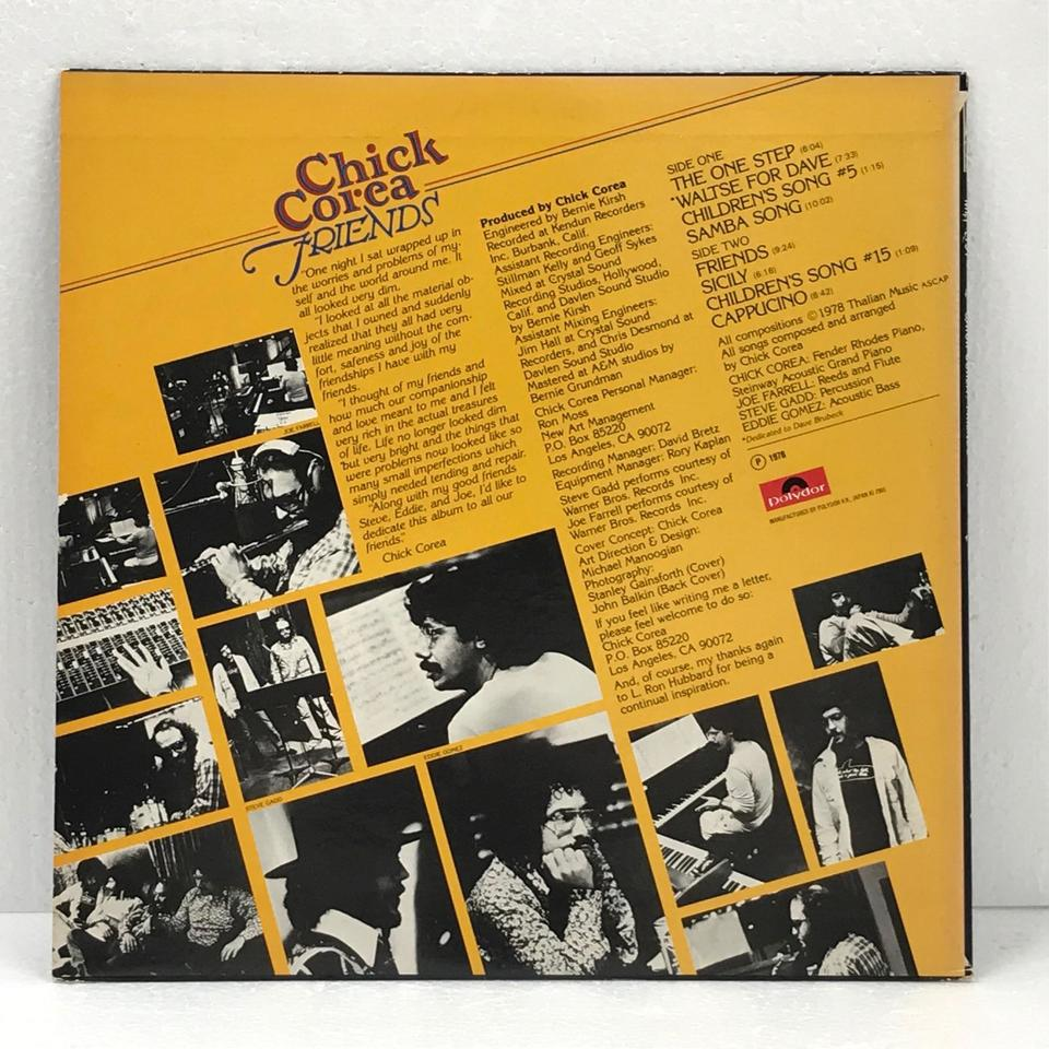 FRIENDS/CHICK COREA CHICK COREA 画像