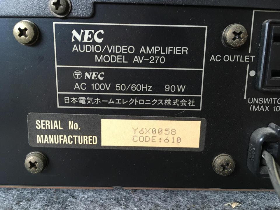 AV-270 NEC 画像