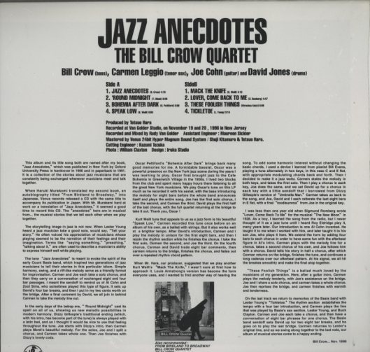 jazz anecdotes by bill crow Buy, download and read jazz anecdotes ebook online in epub or pdf format for iphone, ipad, android, computer and mobile readers author: bill crow isbn: 9780199840045 publisher: oxford university press when jazz musicians get together, they often delight one another with stories about the great, or merely remarkable, players and singers they.