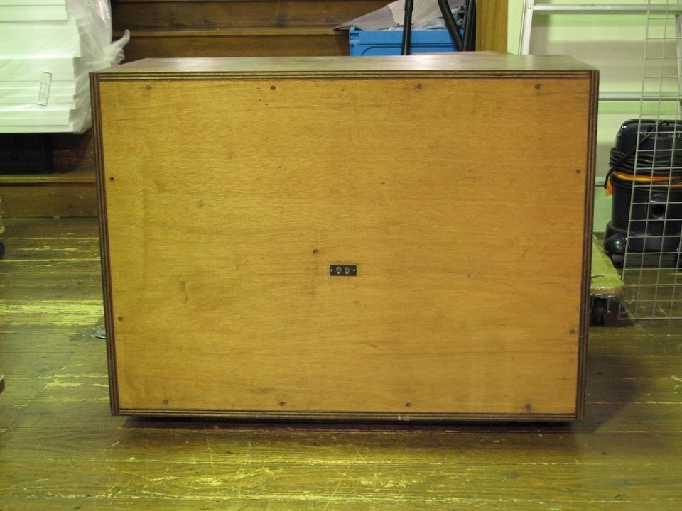 大型ウーファーボックス 自作 画像