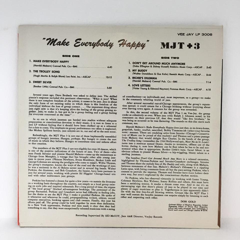 MJT+3 - Make Everybody Happy / The Trolley Song