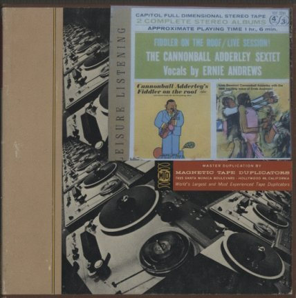 FIDDLER ON THE ROOF/LIVE SESSION!/CANNONBALL ADDERLEY SEXTET CANNONBALL ADDERLEY 画像