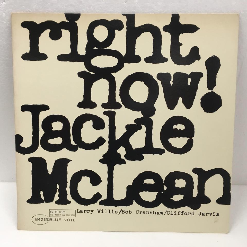 RIGHT NOW/JACKIE McLEAN JACKIE McLEAN  LPジャズ 画像a