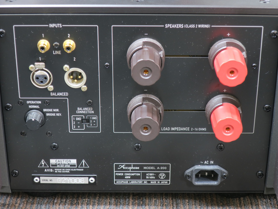 A-200 Accuphase アキュフェーズ パワーアンプ(トランジスター) 画像m