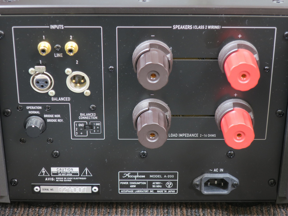A-200 Accuphase アキュフェーズ パワーアンプ(トランジスター) 画像n