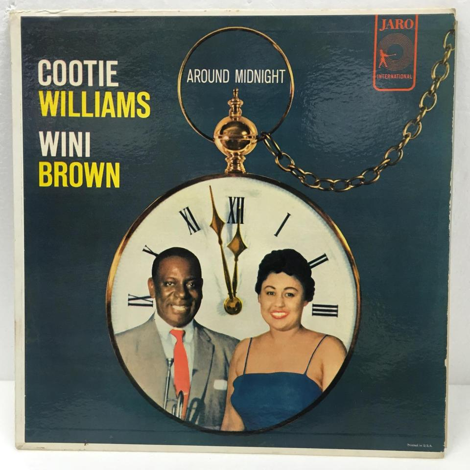 AROUND MIDNIGHT WITH COOTIE WILLIAMS AND WINI BROWN  COOTIE WILLIAMS AND WINI BROWN  LPジャズボーカル 画像a