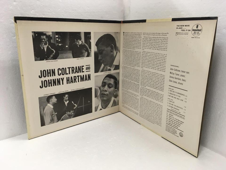 JOHN COLTRANE AND JOHNNY HARTMAN JOHN COLTRANE  LPジャズ 画像d