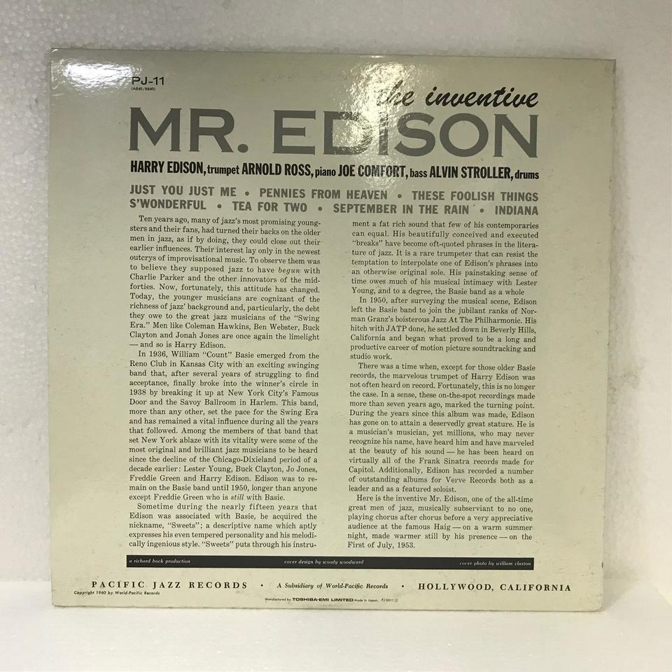 THE INVENTIVE MR.EDISON/HARRY EDISON HARRY EDISON 画像