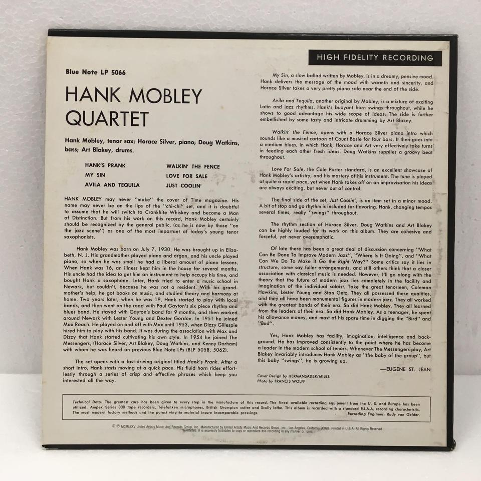 HANK MOBLEY QUARTET - HiFi-Do McIntosh/JBL/audio-technica