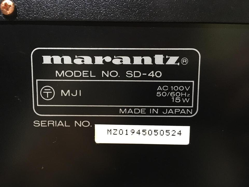 SD-40 marantz 画像